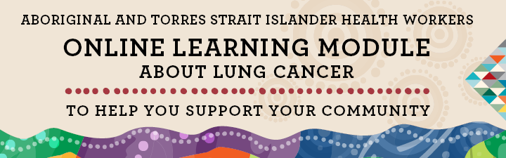Online learning module about lung cancer