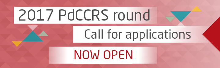 2017 PdCCRS round  Call for applications NOW OPEN