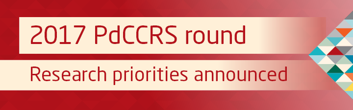 2017 PdCCRS research priorities announced
