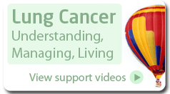 Lung cancer, Understanding, Managing, Living - view support videos